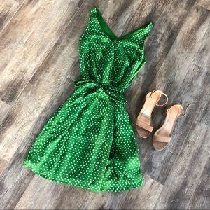 Belted Polkadot Dress